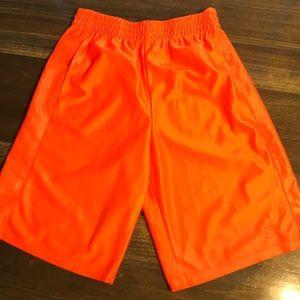 Boys Starter Fluorescent Orange Athletic Shorts